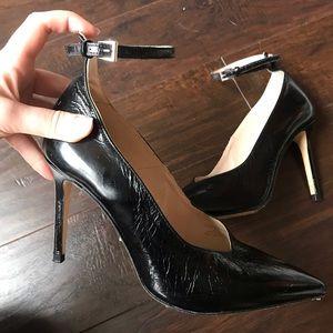 Zara basic leather heels